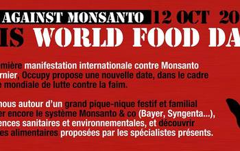 March Against Monsanto - sit-in