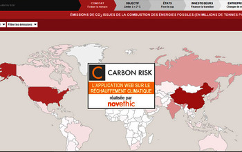 Carbon Risk : l'application web sur le réchauffement climatique